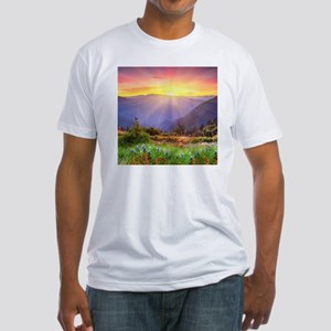Majestic Sunset Fitted T-Shirt