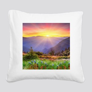 Majestic Sunset Square Canvas Pillow