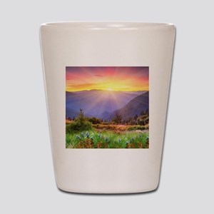 Majestic Sunset Shot Glass