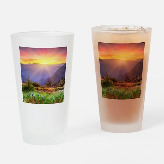 Majestic Sunset Drinking Glass
