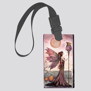The Golden Dragon Fairy Fantasy  Large Luggage Tag