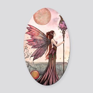 The Golden Dragon Fairy Fantasy Ar Oval Car Magnet