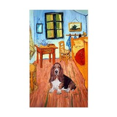 Room with a Basset Sticker (Rectangle)