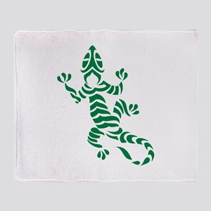 Tribal Gecko Throw Blanket