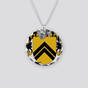 MacLellan Family Crest / Coa Necklace Circle Charm