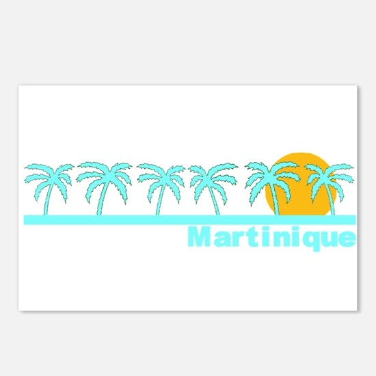 Martinique Postcards (Package of 8)