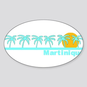 Martinique Oval Sticker