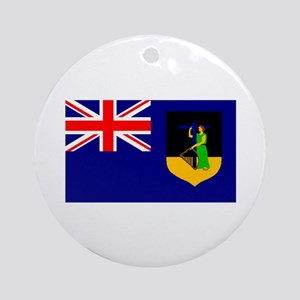 Montserrat Flag (Dark) Ornament (Round)