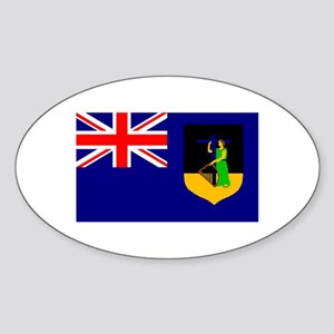 Montserrat Flag (Dark) Oval Sticker