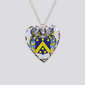Code Coat of Arms Necklace Heart Charm