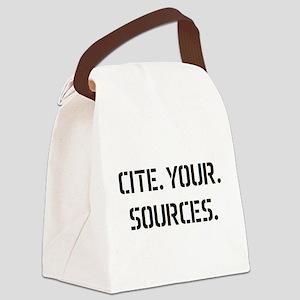 cite sources Canvas Lunch Bag