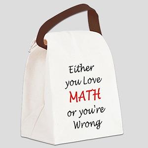 love math or Canvas Lunch Bag