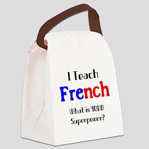 teach french Canvas Lunch Bag