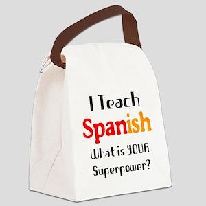 teach spanish Canvas Lunch Bag