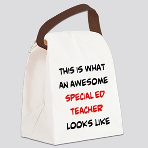 awesome special ed teacher Canvas Lunch Bag