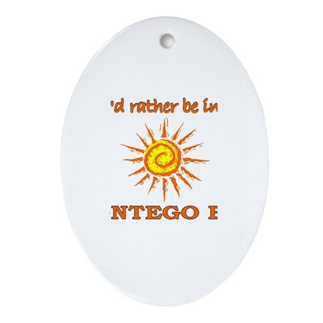I'd Rather Be In Montego Bay, Oval Ornament