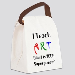 teach art Canvas Lunch Bag