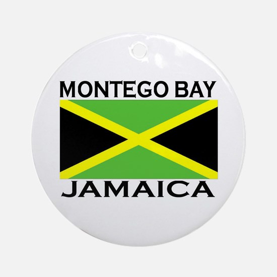 Montego Bay, Jamaica Flag Ornament (Round)