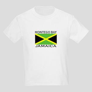 Montego Bay, Jamaica Flag Kids Light T-Shirt