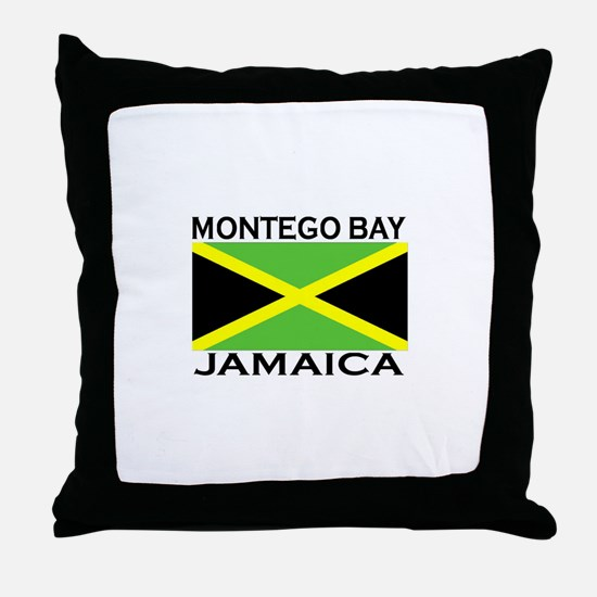 Montego Bay, Jamaica Flag Throw Pillow
