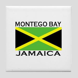 Montego Bay, Jamaica Flag Tile Coaster