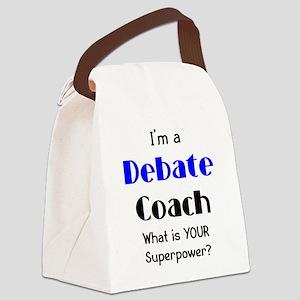debate coach Canvas Lunch Bag