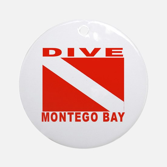 Dive Montego Bay, Jamaica Ornament (Round)