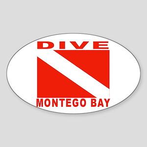 Dive Montego Bay, Jamaica Oval Sticker