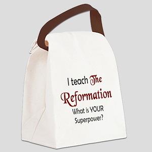 teach reformation Canvas Lunch Bag