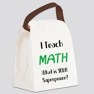 teach math Canvas Lunch Bag