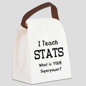 teach stats Canvas Lunch Bag