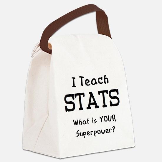 teach stats Canvas Lunch Bag