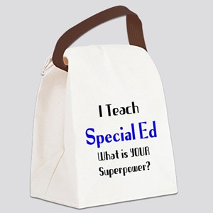 teach special ed Canvas Lunch Bag