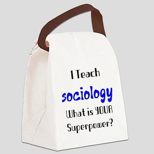 teach sociology Canvas Lunch Bag