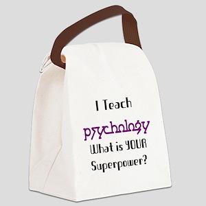 teach psychology Canvas Lunch Bag