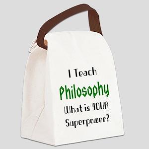 teach philosophy Canvas Lunch Bag