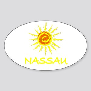 Nassau, Bahamas Oval Sticker