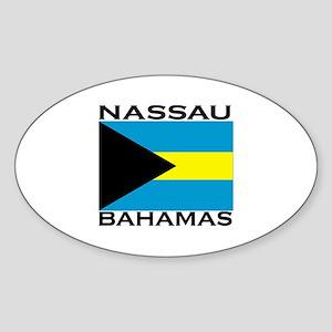 Nassau, Bahamas Flag Oval Sticker