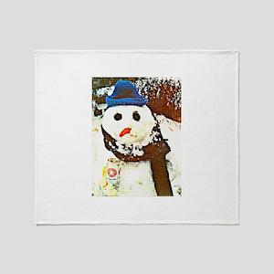 Pittsburgh Snowman Throw Blanket