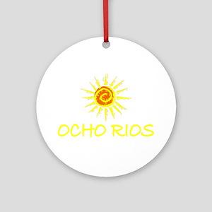 Ocho Rios, Jamaica Ornament (Round)