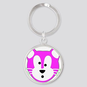 Jamie Cat NoBG for Leather Card Hol Round Keychain