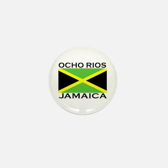 Ocho Rios, Jamaica Flag Mini Button