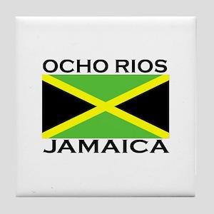Ocho Rios, Jamaica Flag Tile Coaster