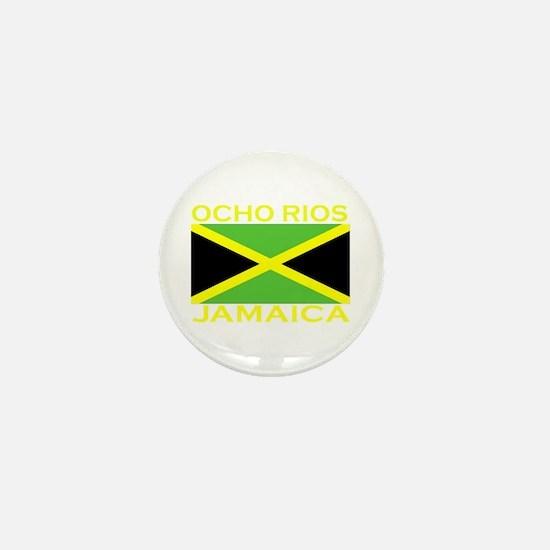 Ocho Rios, Jamaica Flag (Dark Mini Button