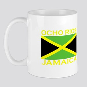 Ocho Rios, Jamaica Flag (Dark Mug