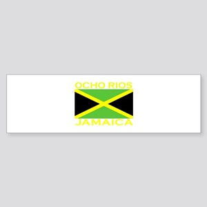 Ocho Rios, Jamaica Flag (Dark Bumper Sticker