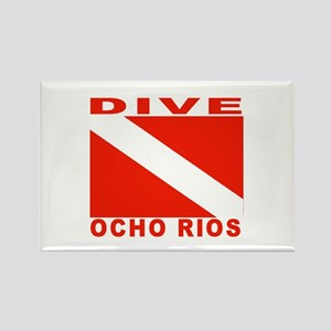 Dive Ocho Rios, Jamaica Rectangle Magnet