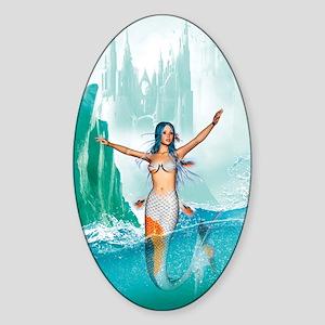 Mermaid Sticker (Oval)