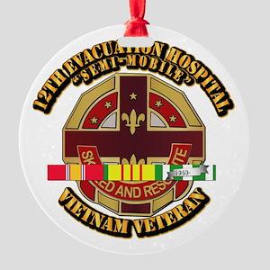 Army - 12th Evacuation Hospital V1 w SVC Ribbon Ro