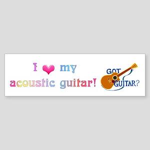 Got Guitar? Sticker (Bumper)